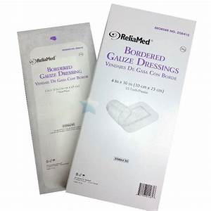 Bordered Gauze Pad Dressings, Sterile, ReliaMed - Various ...