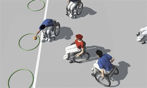 jeux de fauteuil roulant sport en fauteuil roulant exercices de base pour jeux d 233 quipe balle au cerceau 187 mobilesport ch