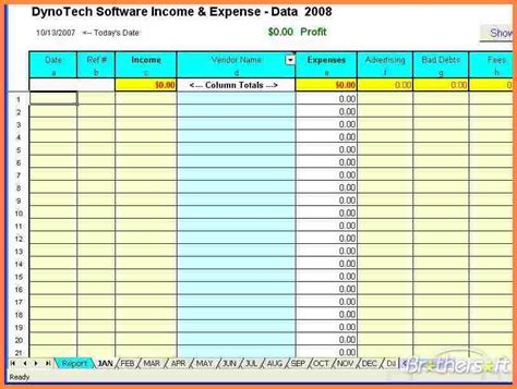 Small Business Tax Spreadsheet Template 6 Small Business