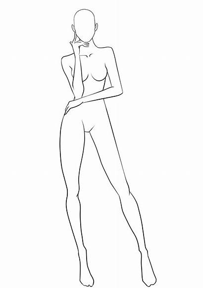 Template Drawing Human Outline Female Templates Getdrawings