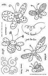 Embroidery Hand Coloring Pages Butterflies Patterns Bees Doodle Spring Pattern Trace Doodles Butterfly Colour Designs Dragonflies Sewing Sew Drawings Templates sketch template