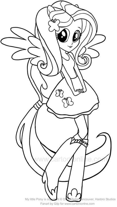 Fluttershy Equestria Kleurplaat by Drawing Fluttershy Equestria Of The My Pony