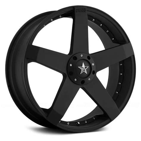 kmc km rockstar car wheels matte black rims
