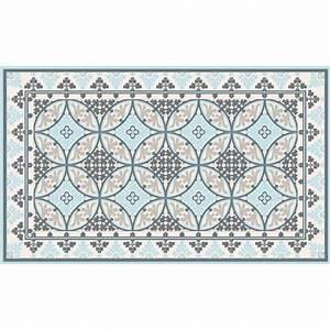Vinyl Carreau Ciment : imitation carreaux de ciment fleux tapis vinyl barcelone light blue white 60 x 97 cm ~ Preciouscoupons.com Idées de Décoration