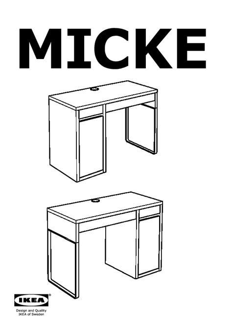 montage de bureau micke bureau brun noir ikea ikeapedia