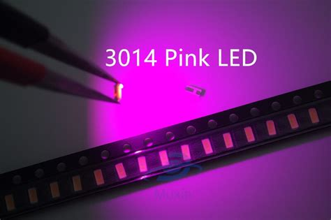 Free Shipping 3014 Smd Led 1000pcs/lot Pink Surface