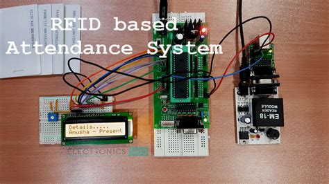 rfid based attendance system circuit  microcontroller