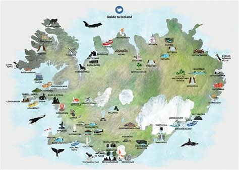 maps  iceland guide  iceland
