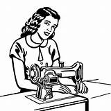 Tailor Sewing Machine Woman Clipart Using Drawing Illustration Costume Vector Worker Designer Adult Sriram Nalini Change Getdrawings Equipment Only Adults sketch template