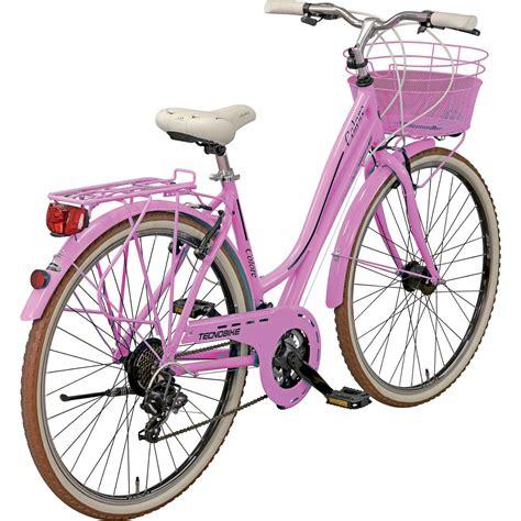 tecnobike colore citybike hollandrad  cm rosa