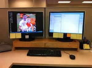 dual monitor riser by davey lumberjocks com