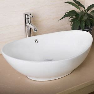 Bathroom Sinks Vessel Bowls by Oval White Bathroom Porcelain Ceramic Vessel Sink Bowl
