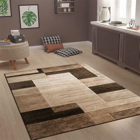 teppich modern design teppich modern design kachel design in braun beige meliert