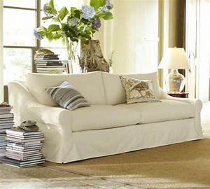 Slipcover sofa pottery barn white slipcovered sofa for Pottery barn sectional sofa slipcover