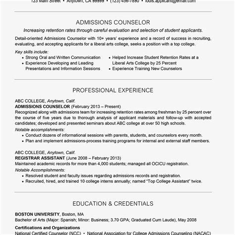 time admissions counselor cover letter admissions counselor cover letter and resume exles