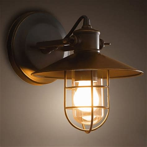 nautical style 1 light 10 wide wall sconce with black metal shade beautifulhalo com