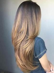 Lange Glatte Haare : stufenschnitt glatte lange haare ~ Frokenaadalensverden.com Haus und Dekorationen