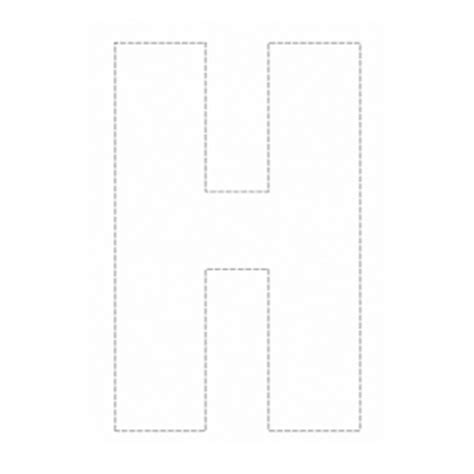 printable alphabet letters a4 size coloring outline capital h 11037