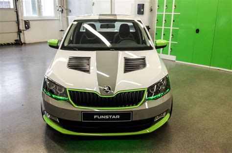 skoda unveils fabia funstar pickup concept car autocar