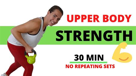 kettlebell upper body workout exercises toning sets minute strength repeating