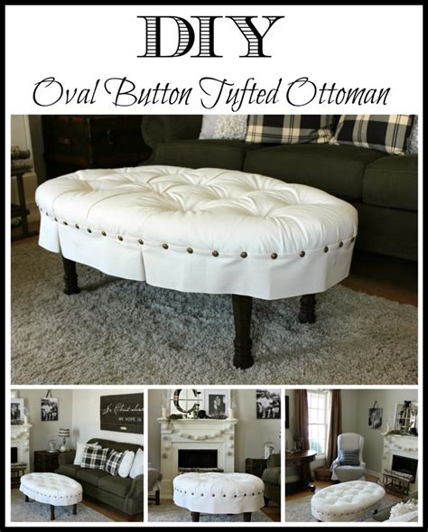Diy Tufted Ottoman by Diy Oval Button Tufted Ottoman Hymns And Verses