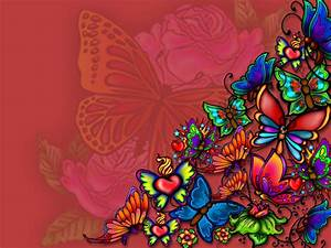 Colorful Butterfly Backgrounds Wallpaper 11 Hd Wallpaper ...