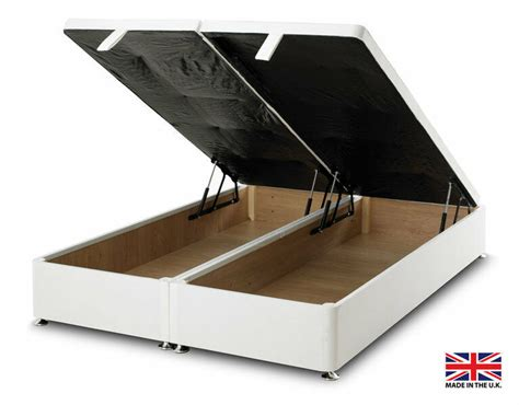 Ottoman Base Bed by Exclusive Bed World White Ottoman Foot Lift Divan Bed Base