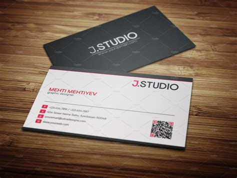clean qr code business card  business card templates