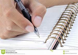 Hand Writing On A Book Stock Photos - Image: 16161503