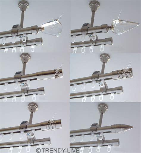 gardinenleiste 2 läufig gardinenstange mit schiene gardinenleiste schiene pauwnieuws wei e holzgardinenstange 2 l ufig