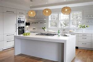 modern cottage kitchen with flat front cabinets cottage With what kind of paint to use on kitchen cabinets for long horizontal wall art