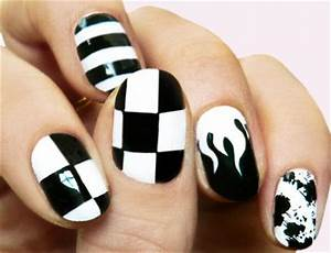 Simple Black Nail Art Designs & Supplies For Beginners ...