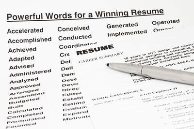 Keywords To Use In A Resume by Power Words To Use In Your Resume