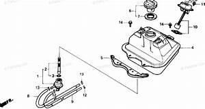 Honda Scooter 1989 Oem Parts Diagram For Fuel Tank