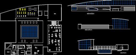 sport center dwg plan  autocad designs cad