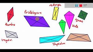 The diagonals of a quadrilateral - YouTube  Quadrilateral