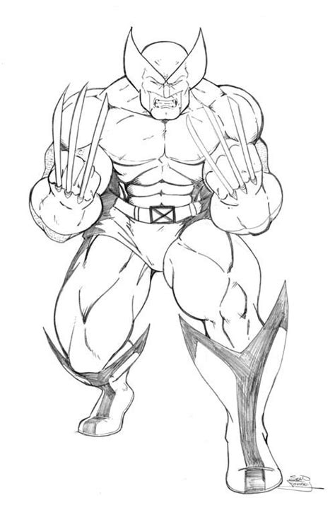 wolverine coloring page printable superhero coloring avengers coloring pages