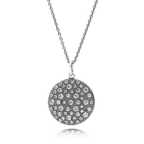 pandora cosmic stars pendant necklace cz