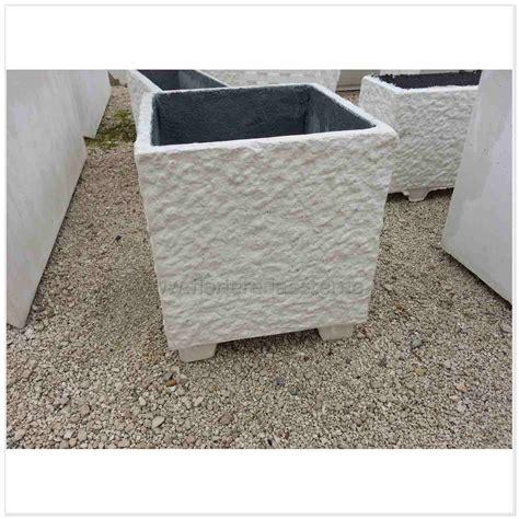 fioriere giardino fioriere cemento 60816590 bocciardate vasi rettangolari