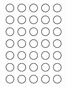 crafts circle pattern and circles on pinterest With 1 inch circle template free