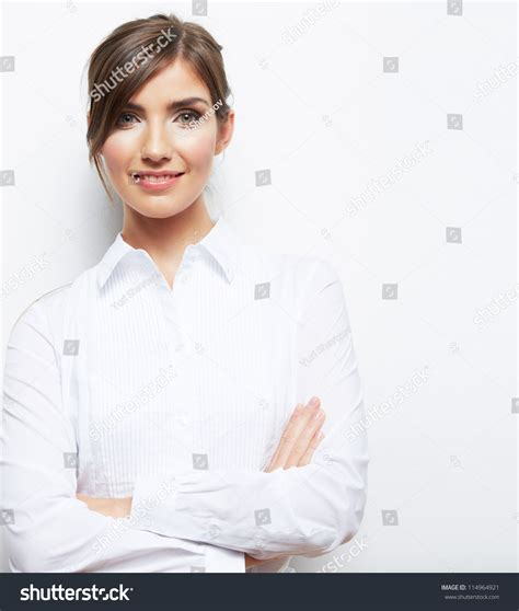 14773 corporate portrait backdrops portrait of smiling business isolated on white