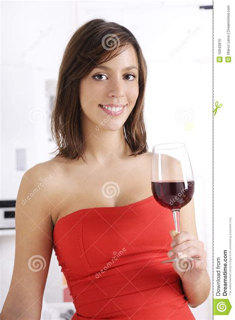 young woman drinking red wine royalty  stock photo