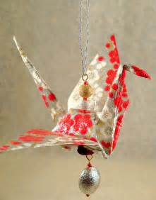 how to make a paper crane ornament paper jewelry
