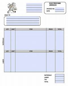 free electrician invoice template excel pdf word doc With electrical invoices download free