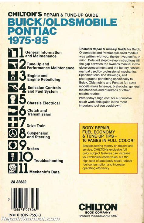 service manuals schematics 1997 oldsmobile regency head up display used chilton buick oldsmobile pontiac 1975 1985 repair manual