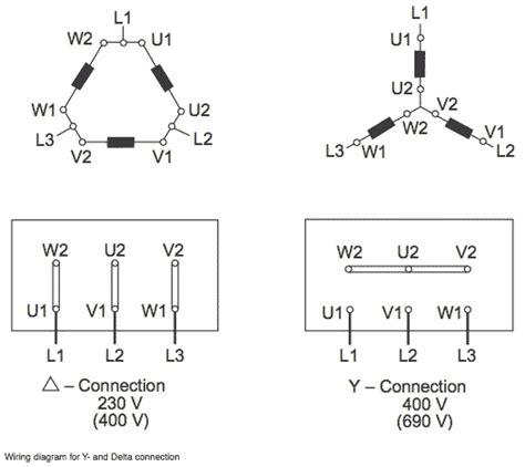Delta Wye Motor Connection Diagram Pinterest