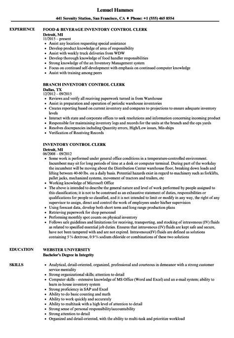 Inventory Control Clerk Resume Samples  Velvet Jobs. Sample Resume Templates Free. Resume Key Skills. Mechanic Resume Examples. Best Resume Objective Statements. Crm Resume. Key Holder Resume. Free Resume Com. Certified Forklift Operator Resume