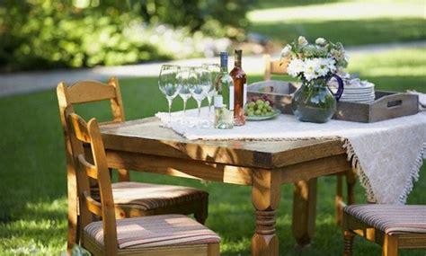 apparecchiare in giardino tavola in terrazza e in giardino le regole per