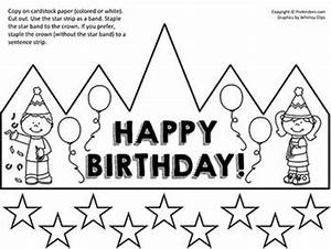 33 best images about pre k birthday theme on pinterest With happy birthday crown template