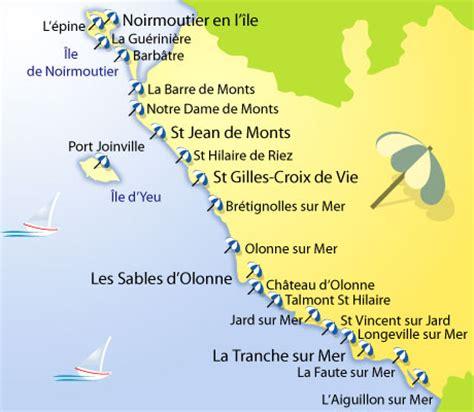 Carte Des Plages De by M 233 T 233 O Des Plages De La Vend 233 E Cd 85